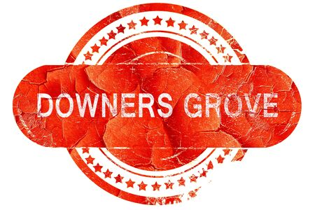 grove: downers grove, red grunge rubber stamp on white background