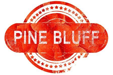 bluff: pine bluff, red grunge rubber stamp on white background