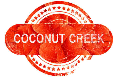 brook: coconut creek, red grunge rubber stamp on white background