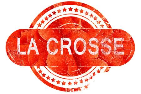 crosse: la crosse, red grunge rubber stamp on white background
