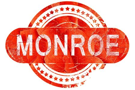 monroe: monroe, red grunge rubber stamp on white background