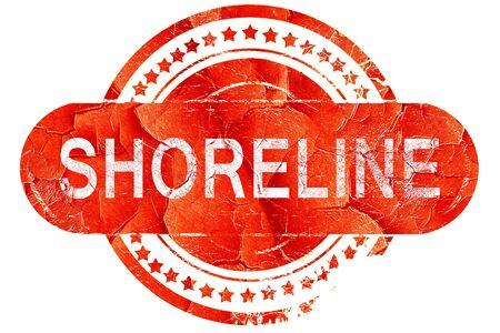 shoreline: shoreline, red grunge rubber stamp on white background Stock Photo