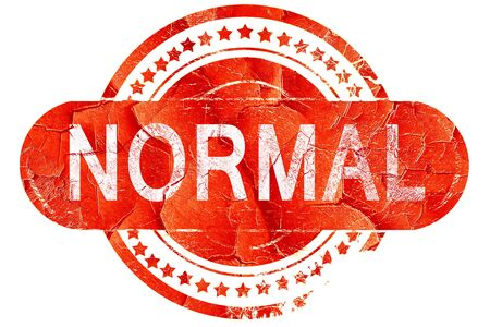 normal: normal, red grunge rubber stamp on white background