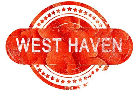 haven: west haven, red grunge rubber stamp on white background Stock Photo