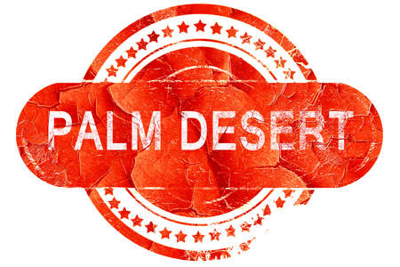 palm desert: palm desert, red grunge rubber stamp on white background