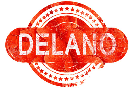 delano: delano, red grunge rubber stamp on white background Stock Photo