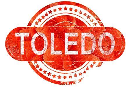 toledo: toledo, red grunge rubber stamp on white background