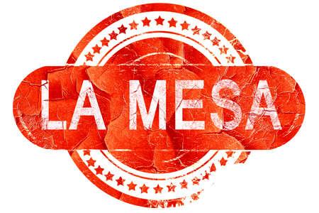 mesa: la mesa, red grunge rubber stamp on white background Stock Photo