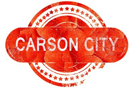 carson city: carson city, red grunge rubber stamp on white background Stock Photo
