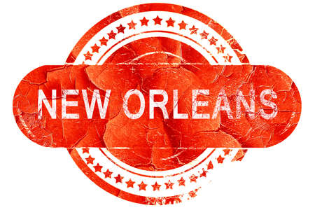 new orleans: new orleans, red grunge rubber stamp on white background