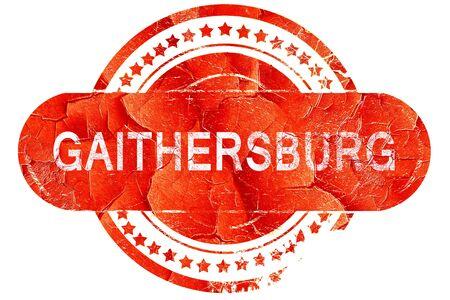 gaithersburg: gaithersburg, red grunge rubber stamp on white background Stock Photo