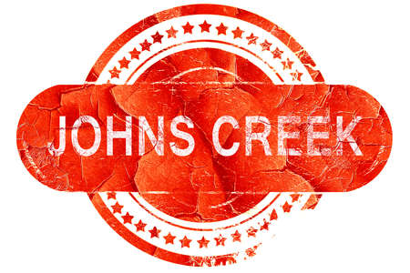 creek: johns creek, red grunge rubber stamp on white background Stock Photo
