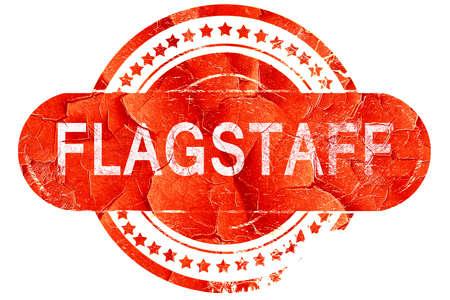 flagstaff: flagstaff, red grunge rubber stamp on white background Stock Photo