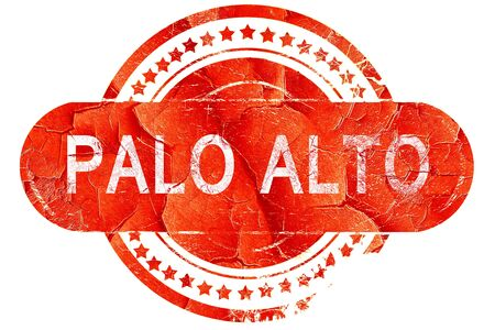 alto: palo alto, red grunge rubber stamp on white background