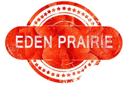 eden prairie, red grunge rubber stamp on white background Stock Photo
