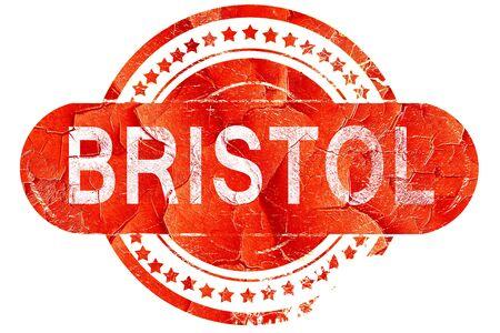 bristol: bristol, red grunge rubber stamp on white background Stock Photo