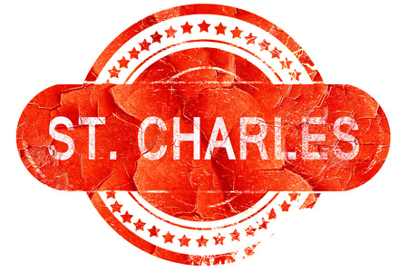 st charles: st. charles, red grunge rubber stamp on white background