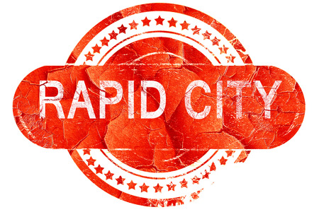 rapid: rapid city, red grunge rubber stamp on white background