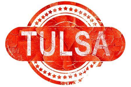 tulsa: tulsa, red grunge rubber stamp on white background