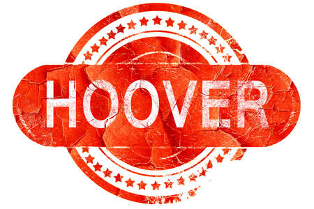 hoover: hoover, red grunge rubber stamp on white background