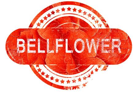 bellflower: bellflower, red grunge rubber stamp on white background