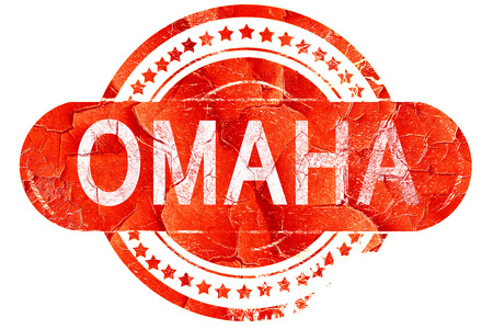 omaha: omaha, red grunge rubber stamp on white background