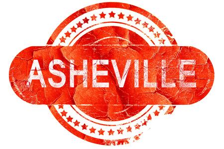 asheville: asheville, red grunge rubber stamp on white background