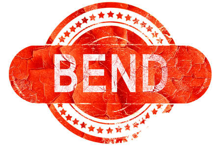 bend: bend, red grunge rubber stamp on white background Stock Photo