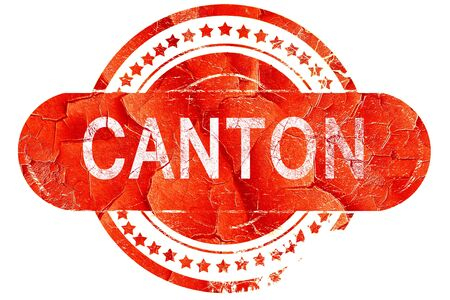 canton: canton, red grunge rubber stamp on white background Stock Photo