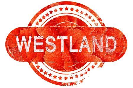 westland: westland, red grunge rubber stamp on white background Stock Photo