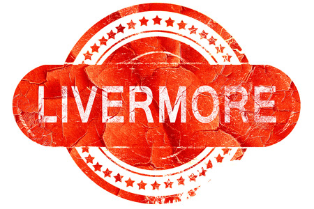 livermore: livermore, red grunge rubber stamp on white background Stock Photo