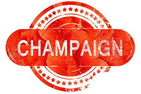 champaign: champaign, red grunge rubber stamp on white background Stock Photo