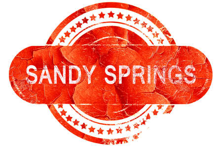 sandy: sandy springs, red grunge rubber stamp on white background
