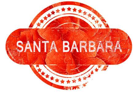 santa barbara: santa barbara, red grunge rubber stamp on white background Stock Photo