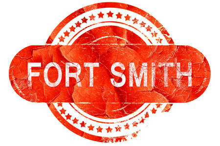 smith: fort smith, red grunge rubber stamp on white background