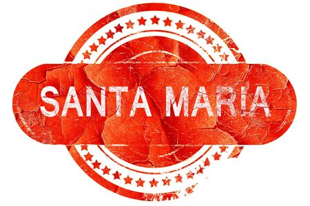 maria: santa maria, red grunge rubber stamp on white background