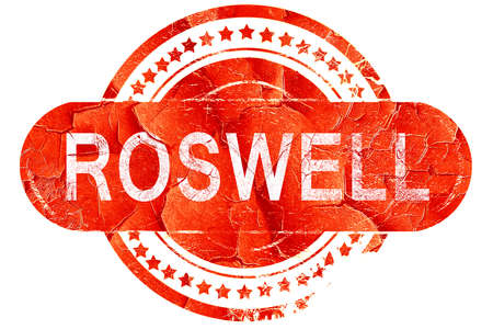 roswell: roswell, red grunge rubber stamp on white background