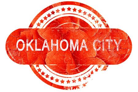 oklahoma city: oklahoma city, red grunge rubber stamp on white background Stock Photo