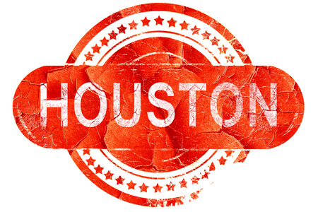 houston: houston, red grunge rubber stamp on white background