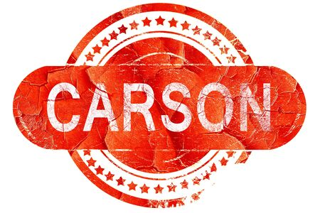 carson city: carson, red grunge rubber stamp on white background