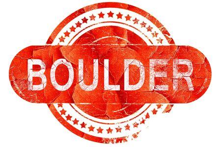 boulder: boulder, red grunge rubber stamp on white background Stock Photo