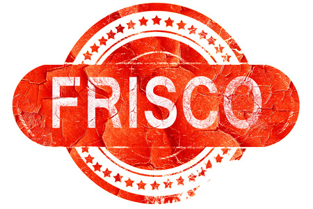 frisco: frisco, red grunge rubber stamp on white background