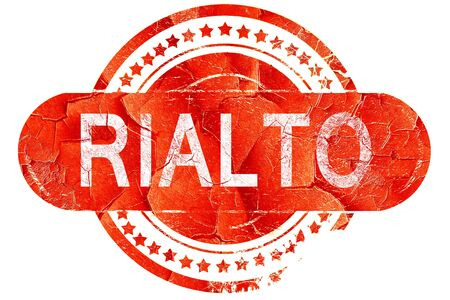 rialto: rialto, red grunge rubber stamp on white background Stock Photo