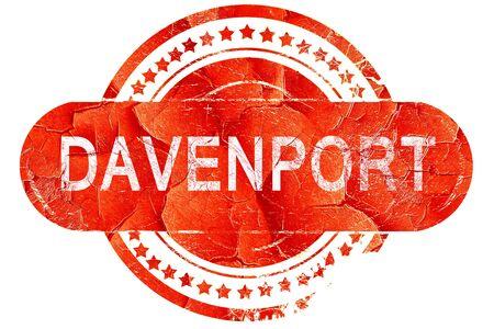 davenport: davenport, red grunge rubber stamp on white background