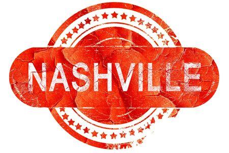 nashville: nashville, red grunge rubber stamp on white background Stock Photo
