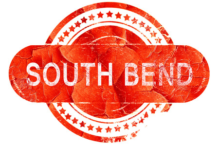 bend: south bend, red grunge rubber stamp on white background