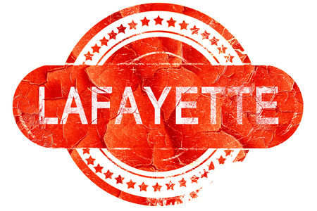 lafayette: lafayette, red grunge rubber stamp on white background