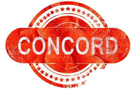 concord: concord, red grunge rubber stamp on white background