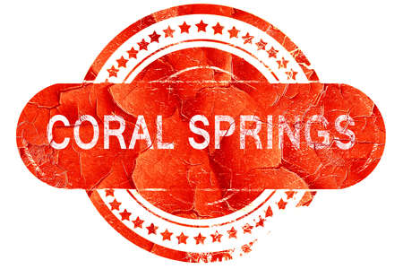 springs: coral springs, red grunge rubber stamp on white background Stock Photo