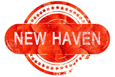 haven: new haven, red grunge rubber stamp on white background Stock Photo